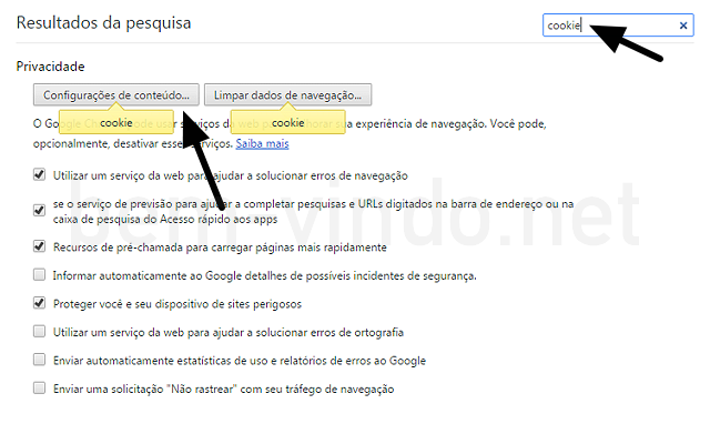 como limpar os cookies no chrome